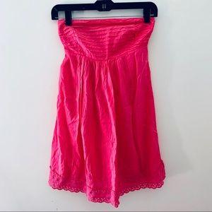 Dresses & Skirts - Hot Pink Strapless Dress